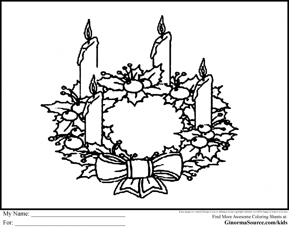 Advent Wreath Black And White Clipart.