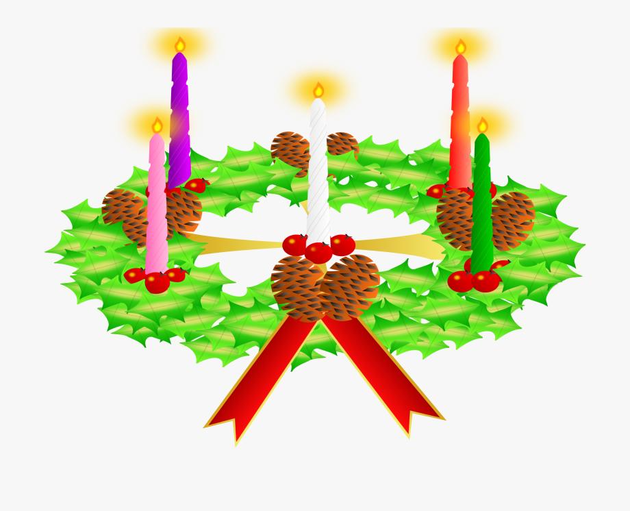 Public Domain Clip Art Image Advent Wreath.