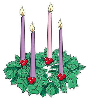 Animated advent wreath clipart.
