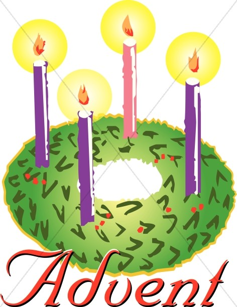 Advent Wreath Clipart.