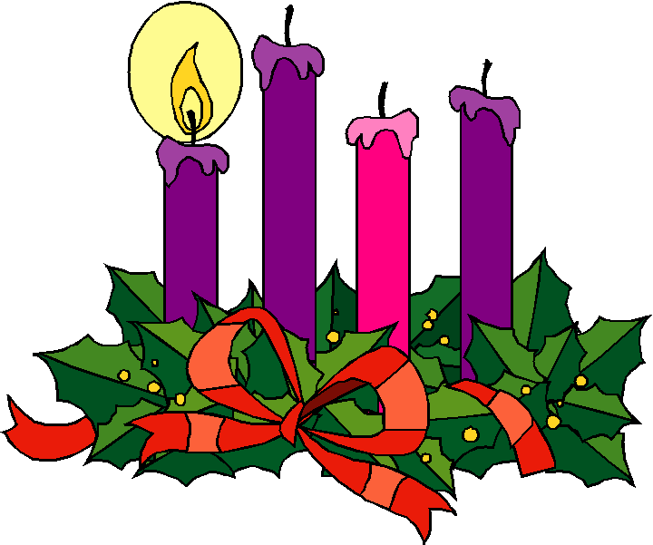Advent wreath clipart candles.