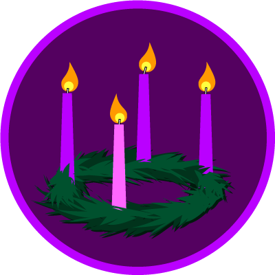 Advent wreath clip art.