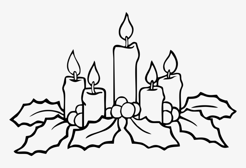 Christmas Advent Wreath Coloring Pages.