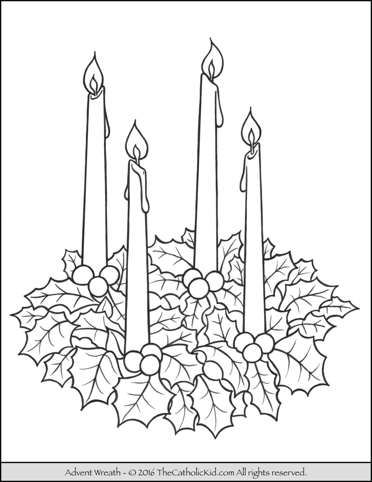 Advent Wreath Clipart Black And White (84+ images in Collection) Page 2.