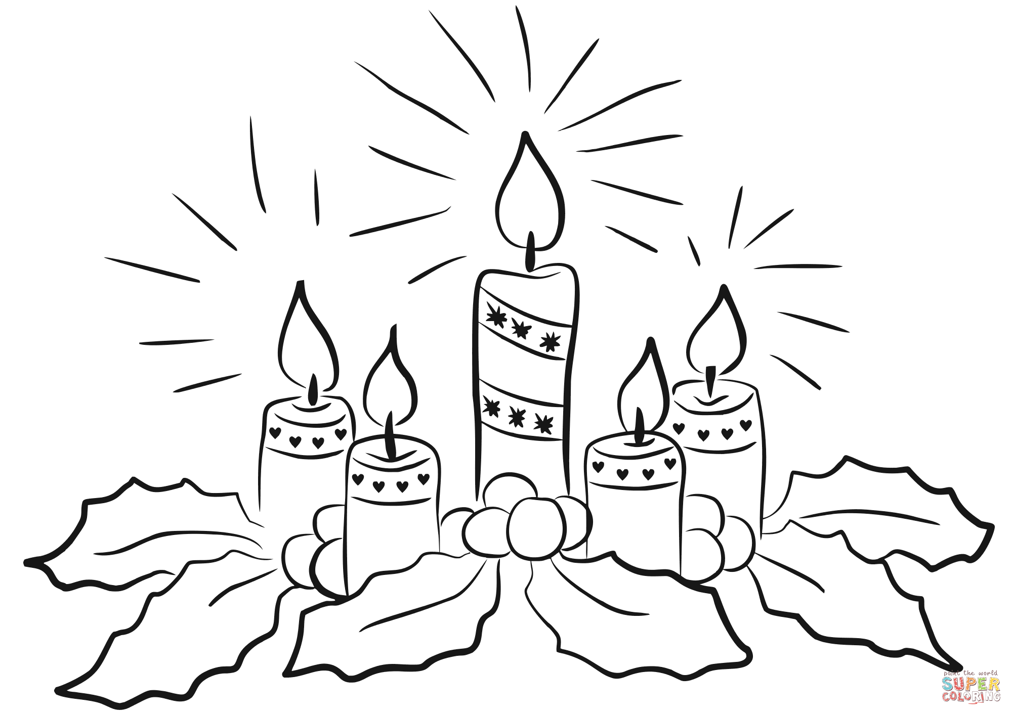 Black And White Advent Wreath Png & Free Black And White Advent.