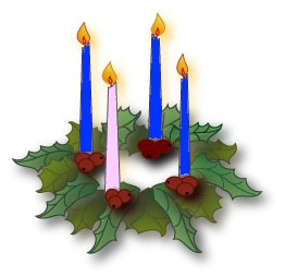 Blue Advent Candles Clipart.