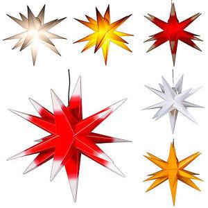 Groß ca. 65 cm: Stern außen, Adventsstern, Weihnachtsstern.