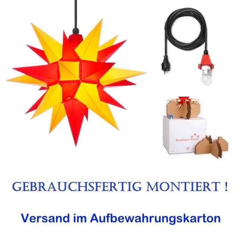 Herrnhuter Adventsstern Außenstern 40 cm Gelb.