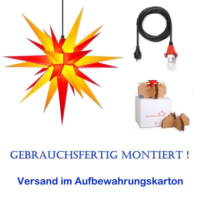 Herrnhuter Adventsstern Außenstern 68 cm Gelb.