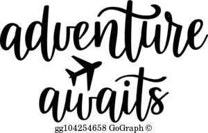 Adventure Awaits Clip Art.
