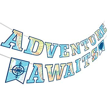 Adventure Awaits Bon Voyage Banner, Travel Themed Party Decorations for  Retirement Baby Shower Bridal Shower Job Change Farewell Career Change  Party.
