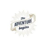 Adventure Begins Gold stock vectors.
