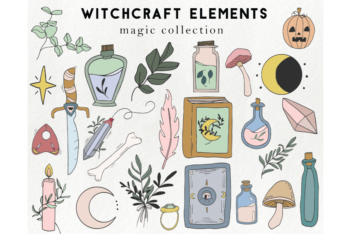 25 witchcraft elements.
