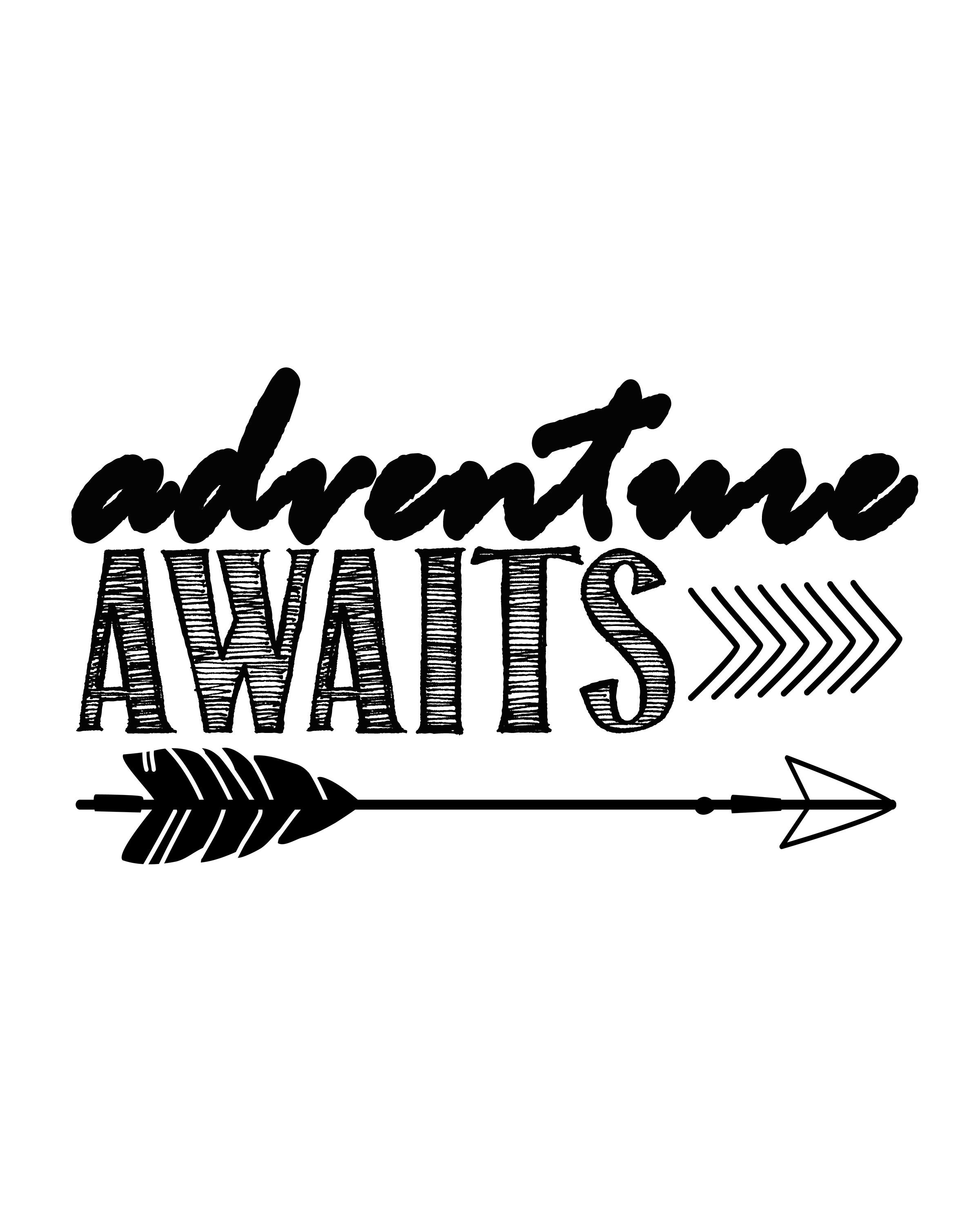 Adventure Awaits…free printable art print.