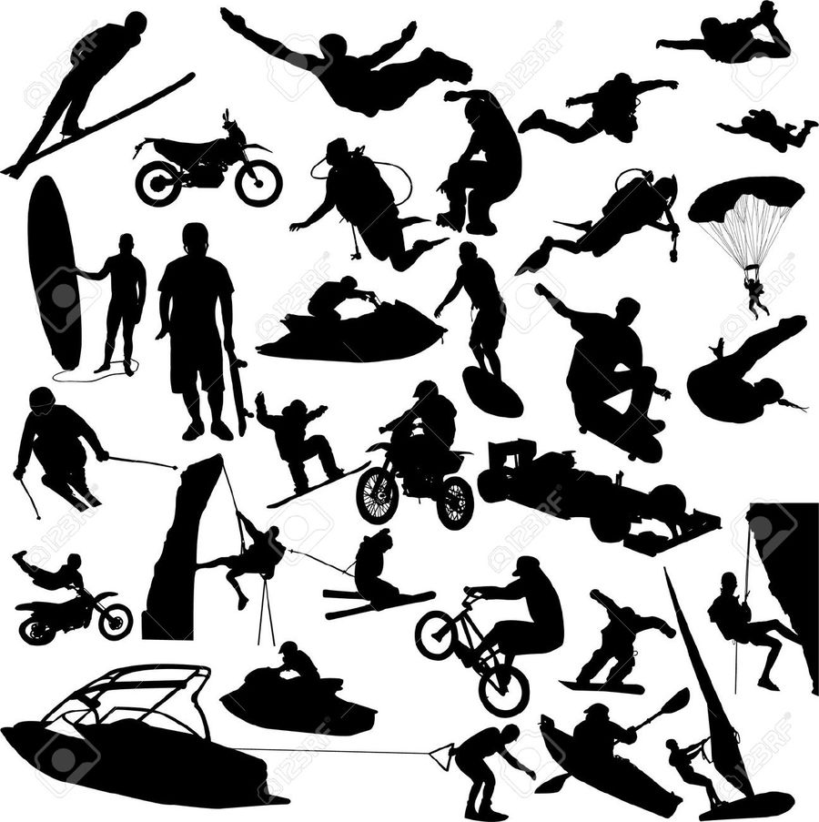 Download adventure sports silhouette clipart Extreme sport.