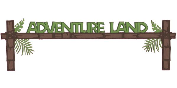 Adventure Land: Adventure Land Laser Die Cut.