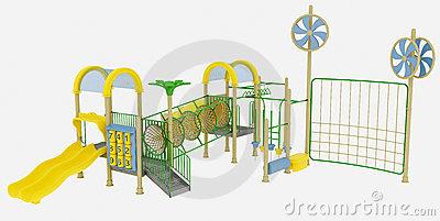 Adventure Playground Stock Photography.