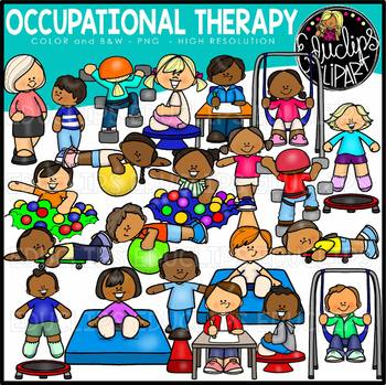 Occupational Therapy Clip Art {Educlips Clipart}.