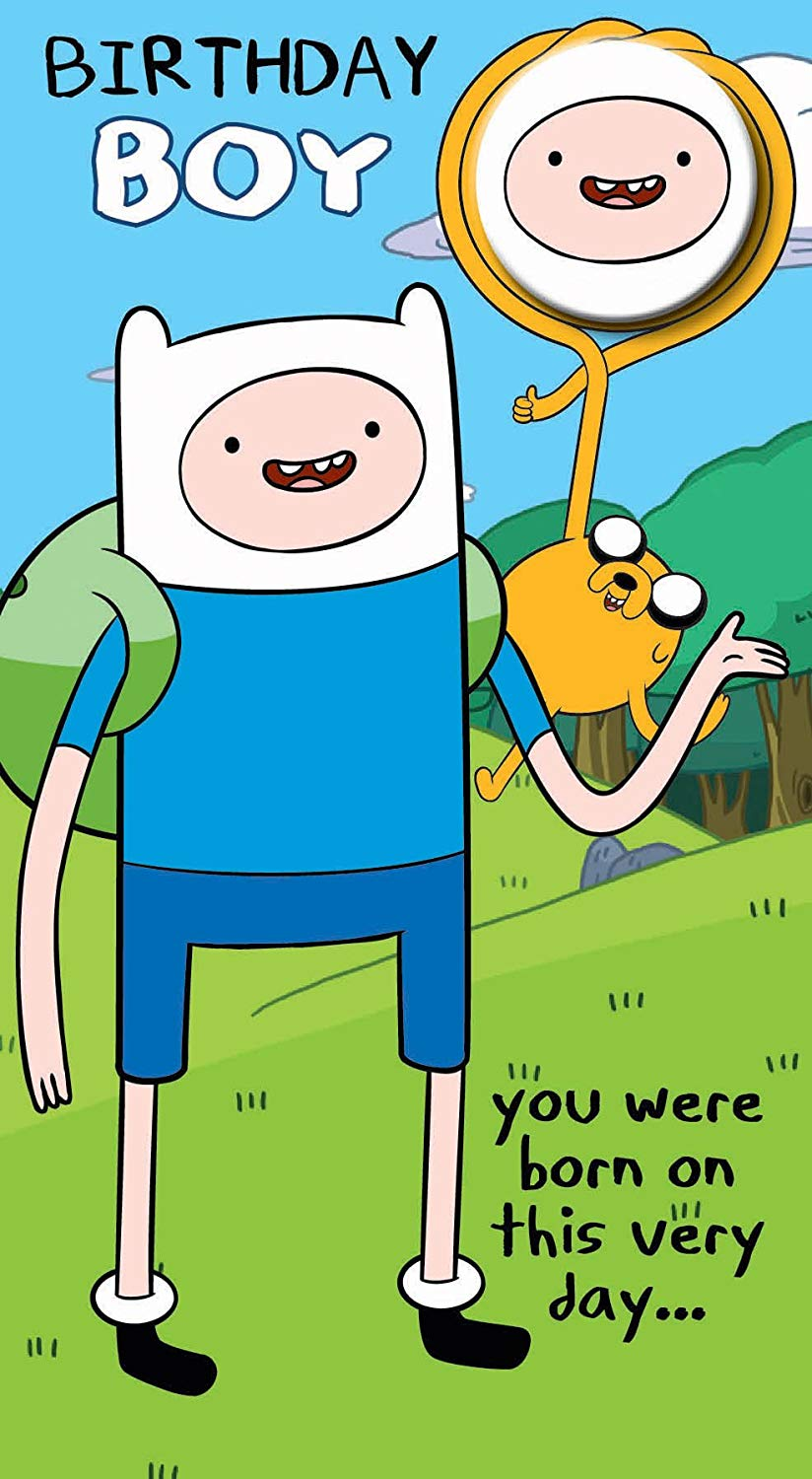 Adventure Time Greeting Card.
