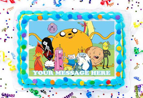 Adventure Time Edible Image Cake Topper Personalized Birthday Sheet  Decoration Custom Party Frosting Transfer Fondant.