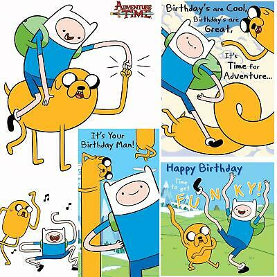 ADVENTURE TIME CARD Birthday Official Party Gift Jake Finn.