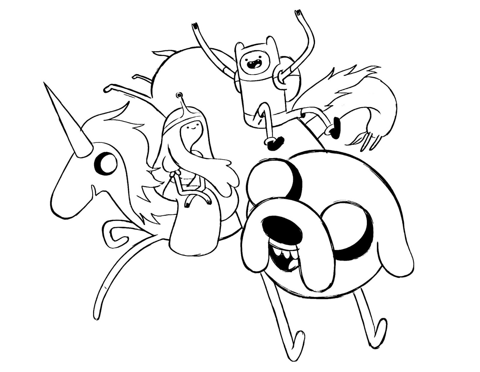 Cartoon Network Coloring Pages Adventure Time.