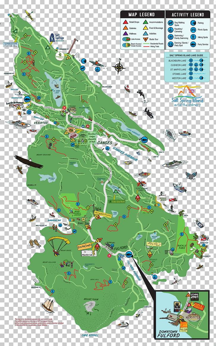 Trail map Mount Erskine Provincial Park Salt Spring.