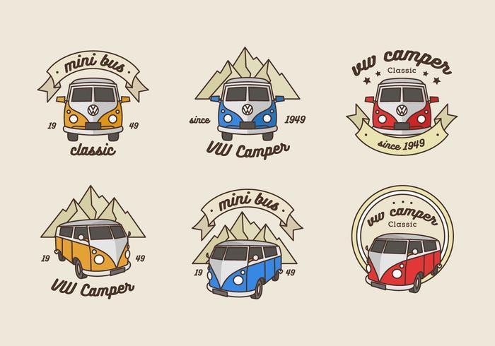 Vintage Adventure Minibus Logo.
