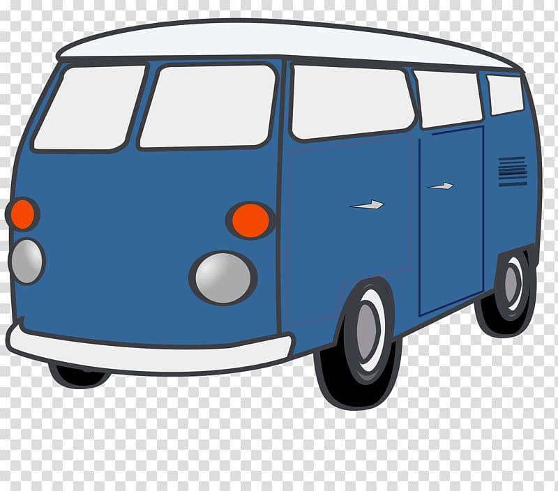 Minivan Volkswagen Type 2 , Van transparent background PNG.