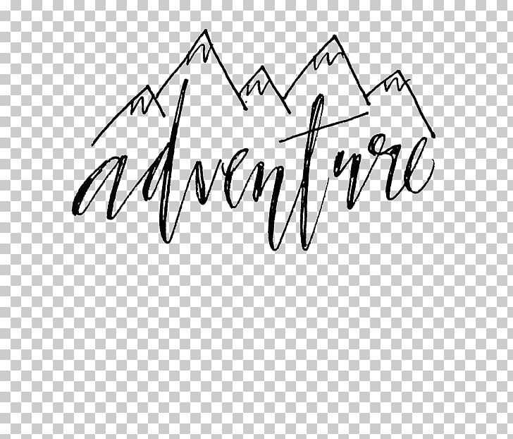 Calligraphy Word Lettering Font, Mountains deductible.