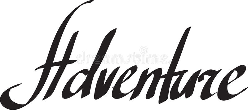 Adventure Word Clipart.