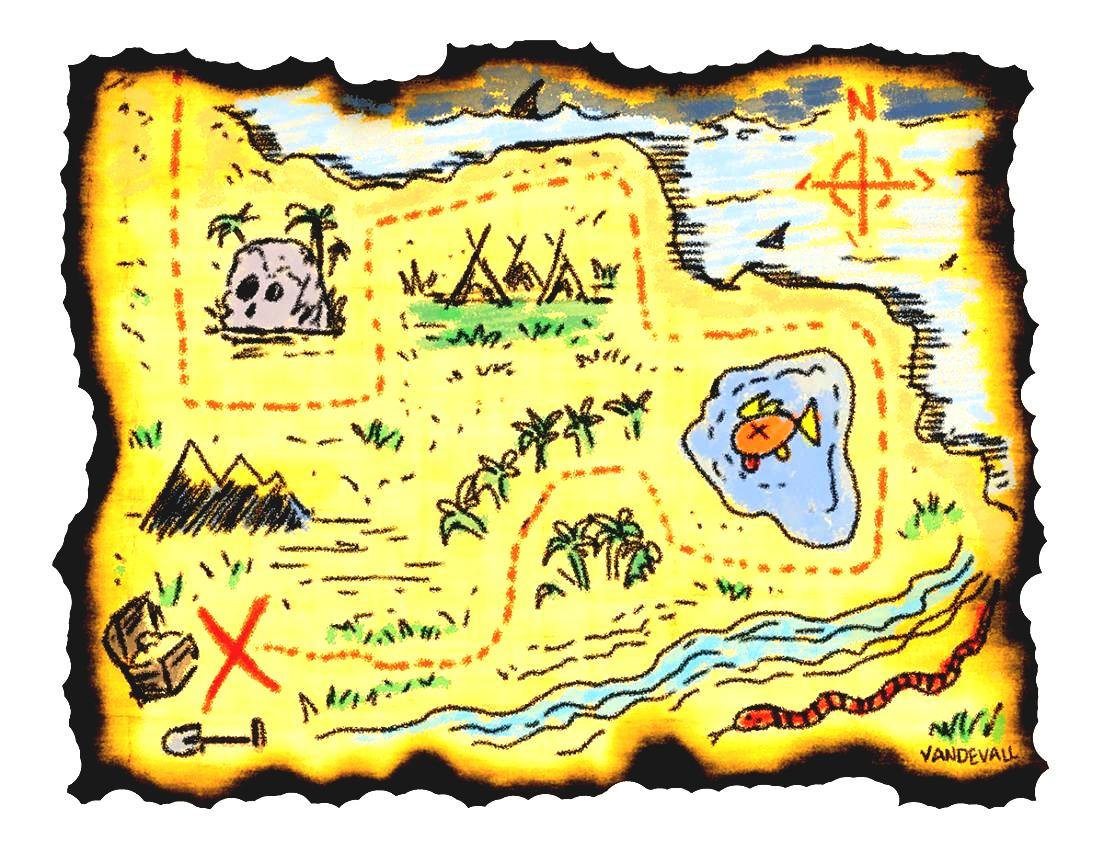 Adventure Map Clipart Printable Treasure Maps For Kids.