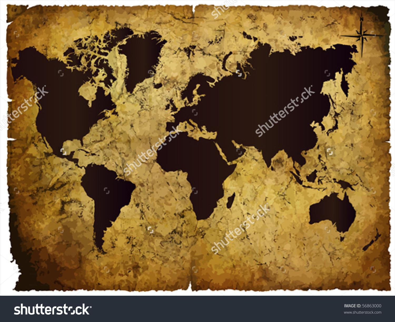 Adventure Map Clipart Treasure World Stock Vectors Vector Clip Art.