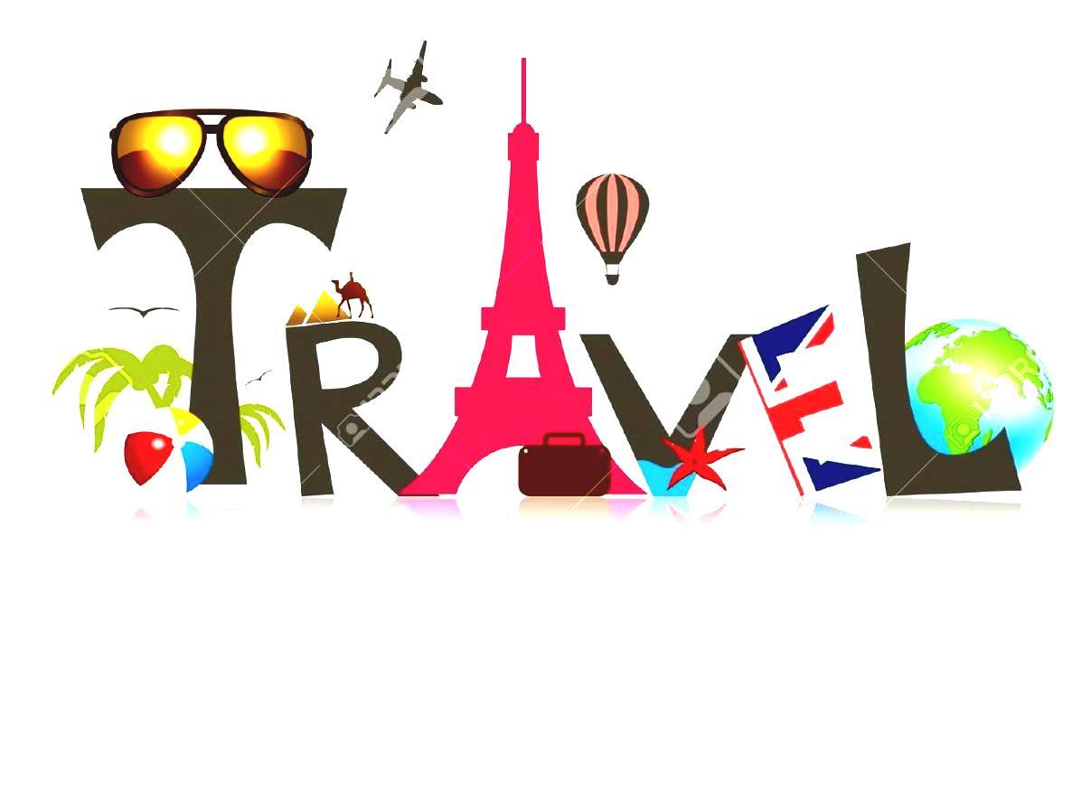 Adventure Travel Clipart World Suitcase Stock Vector Illustration.