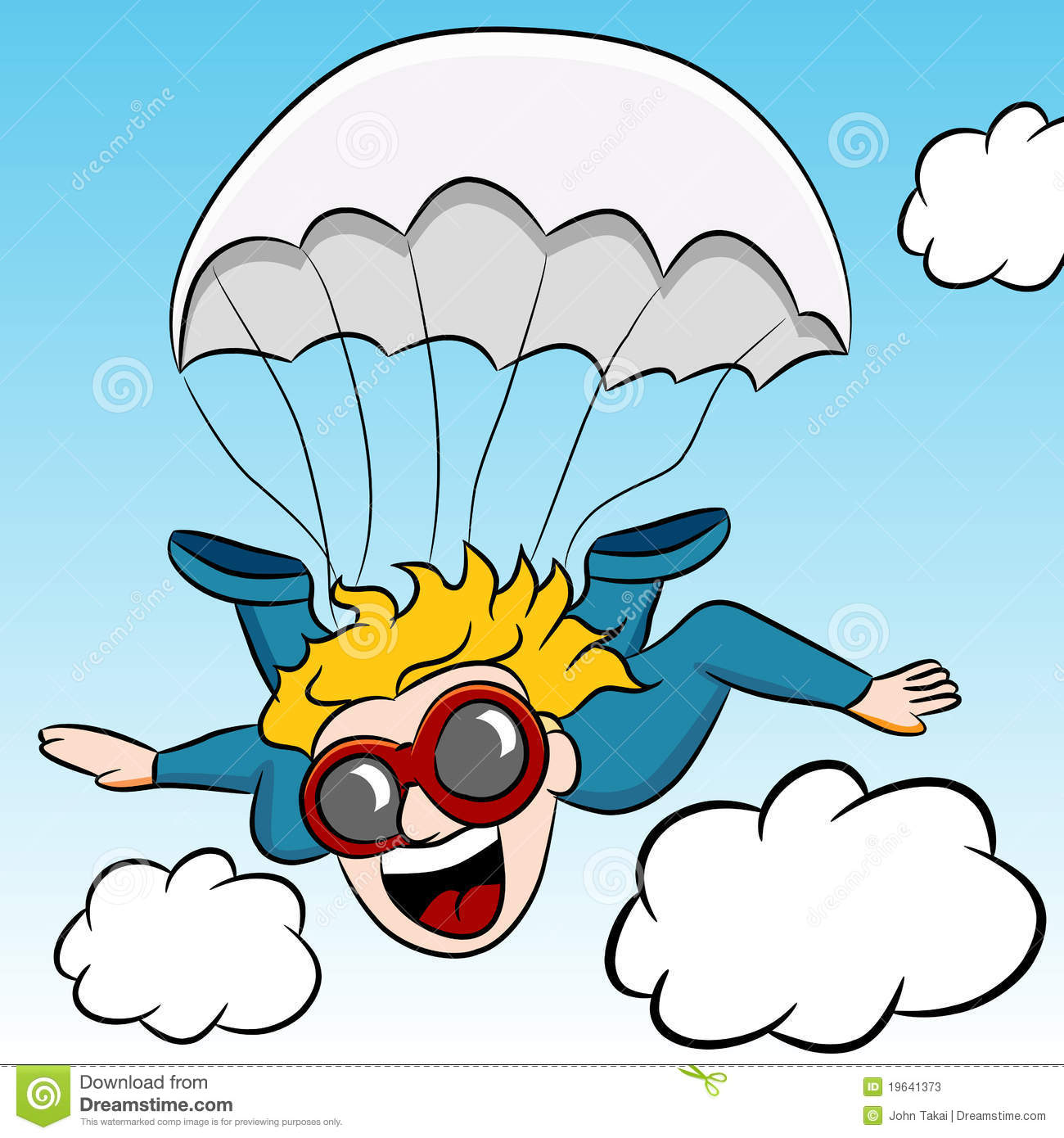 Adventure Clipart Stock Illustrations Vectors Skydiving.