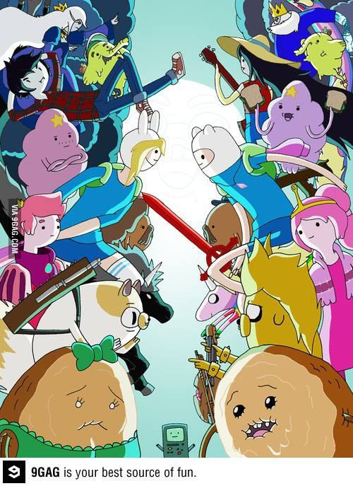 Fiona and cake vs Finn and Jake.