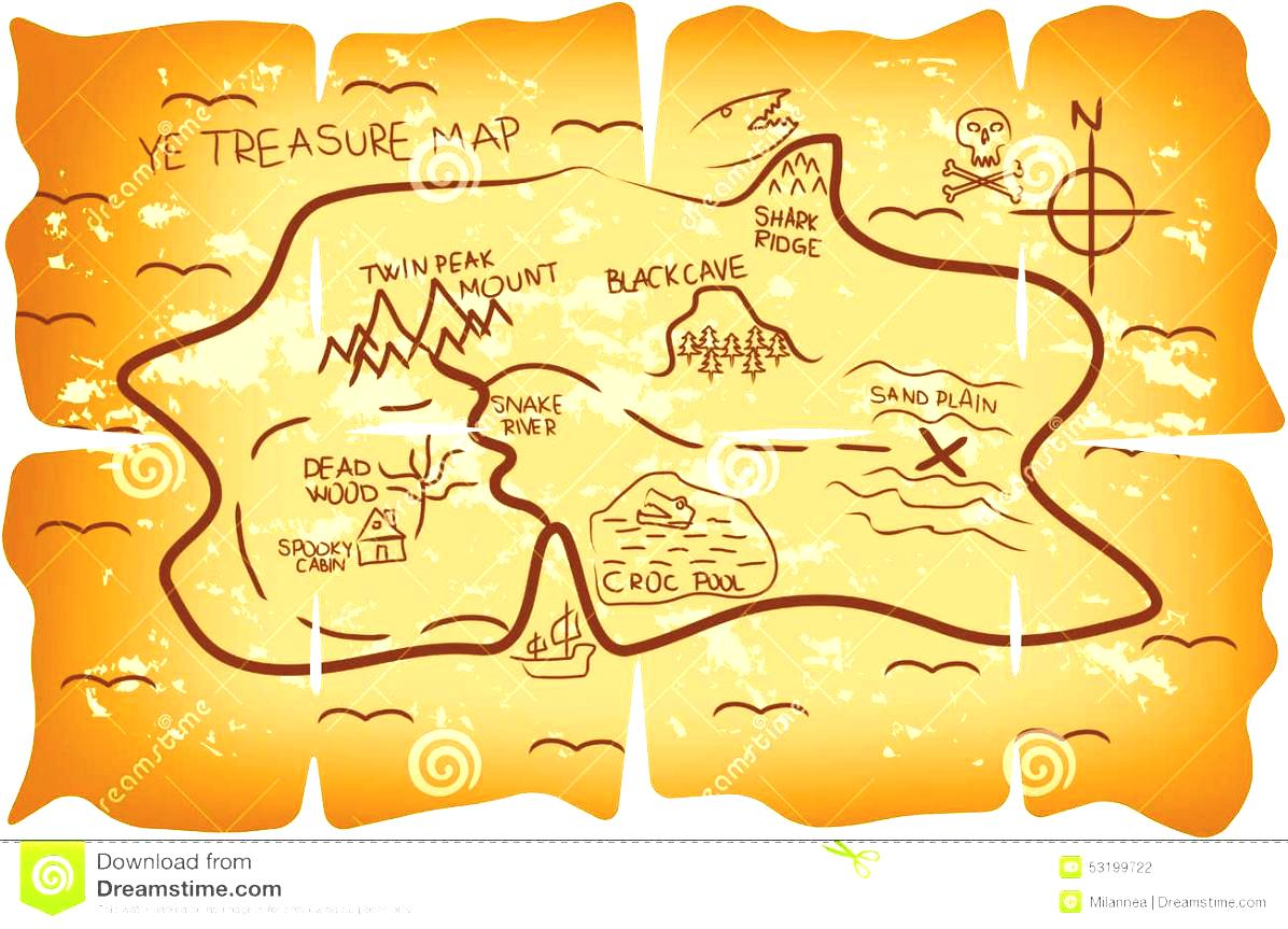 Adventure Map Clipart Old Treasure Royalty Free Stock Photography.