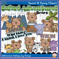 Zoo & Safari Clip Art : Sweet N Sassy Clipart.