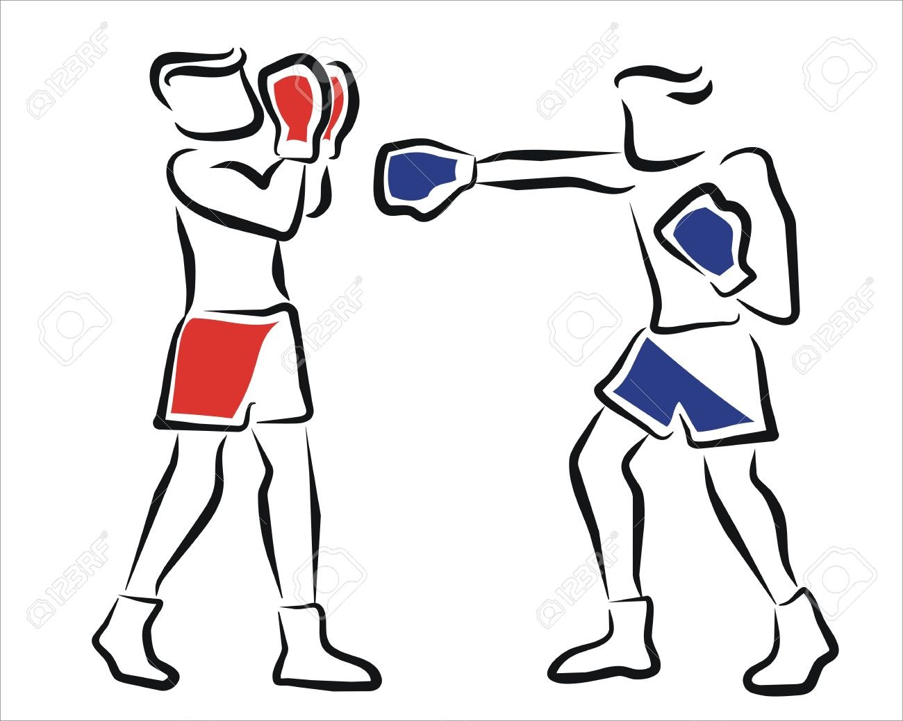 Two Boxers In A Championship Royalty Free Cliparts, Vectors, And.
