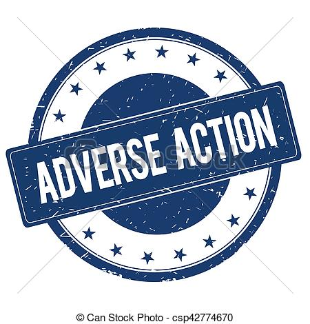ADVERSE ACTION stamp sign.