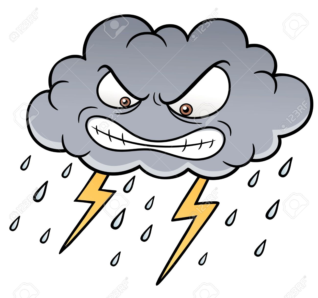 Stormy weather clipart.