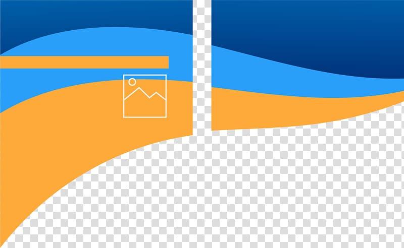 Yellow and blue logo, Graphic design Advertising Designer.