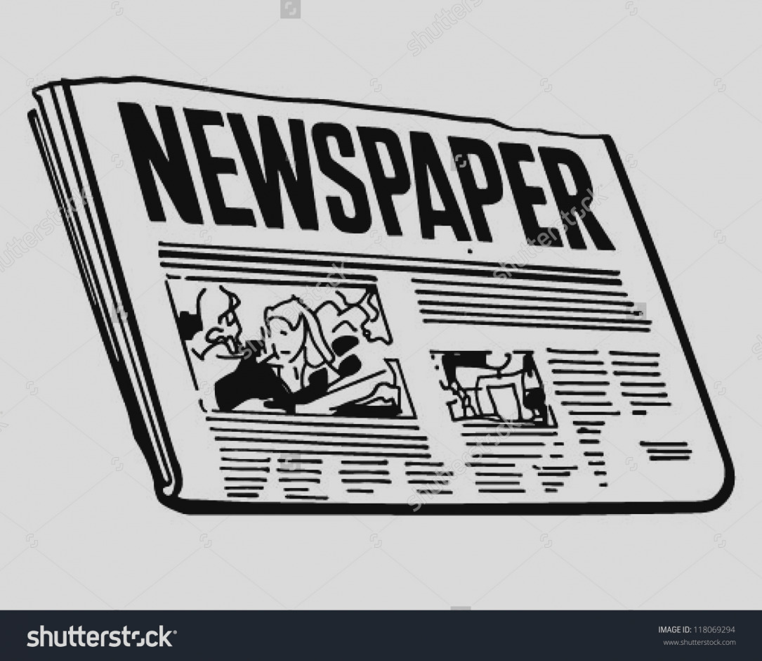 Advertising clipart newspaper ad, Advertising newspaper ad.