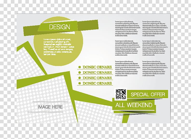 White and green advertisement, Template Brochure Flyer.