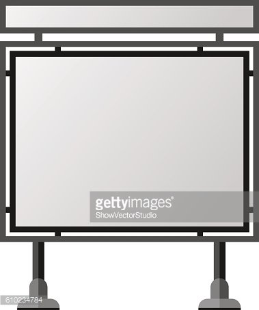 Advertisement billboard template vector Clipart Image.