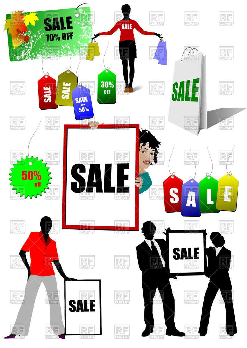 Shopping and sale advertisements Vector Image #55762.