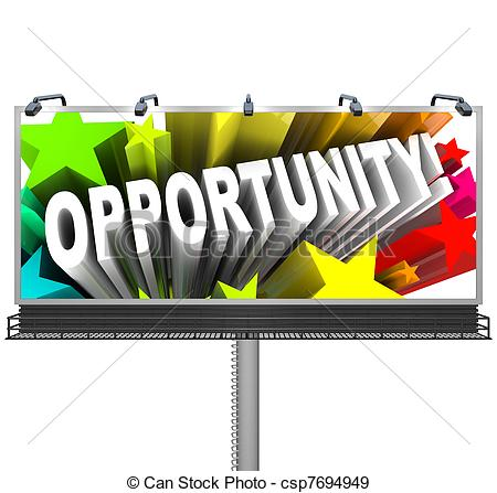 Stock Illustration of Oppotunity Sign Advertising Potential.