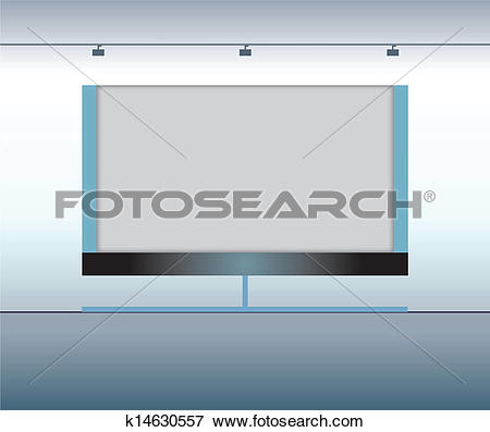 Clip Art of Presentation advertising board. Vector k14630557.