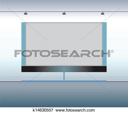 Clip Art of Presentation advertising board. Vector k14630557.