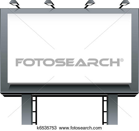 Clipart of Blank advertising billboard k6240444.